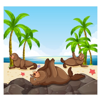 Beach background design