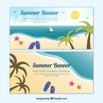 Beach banners collection