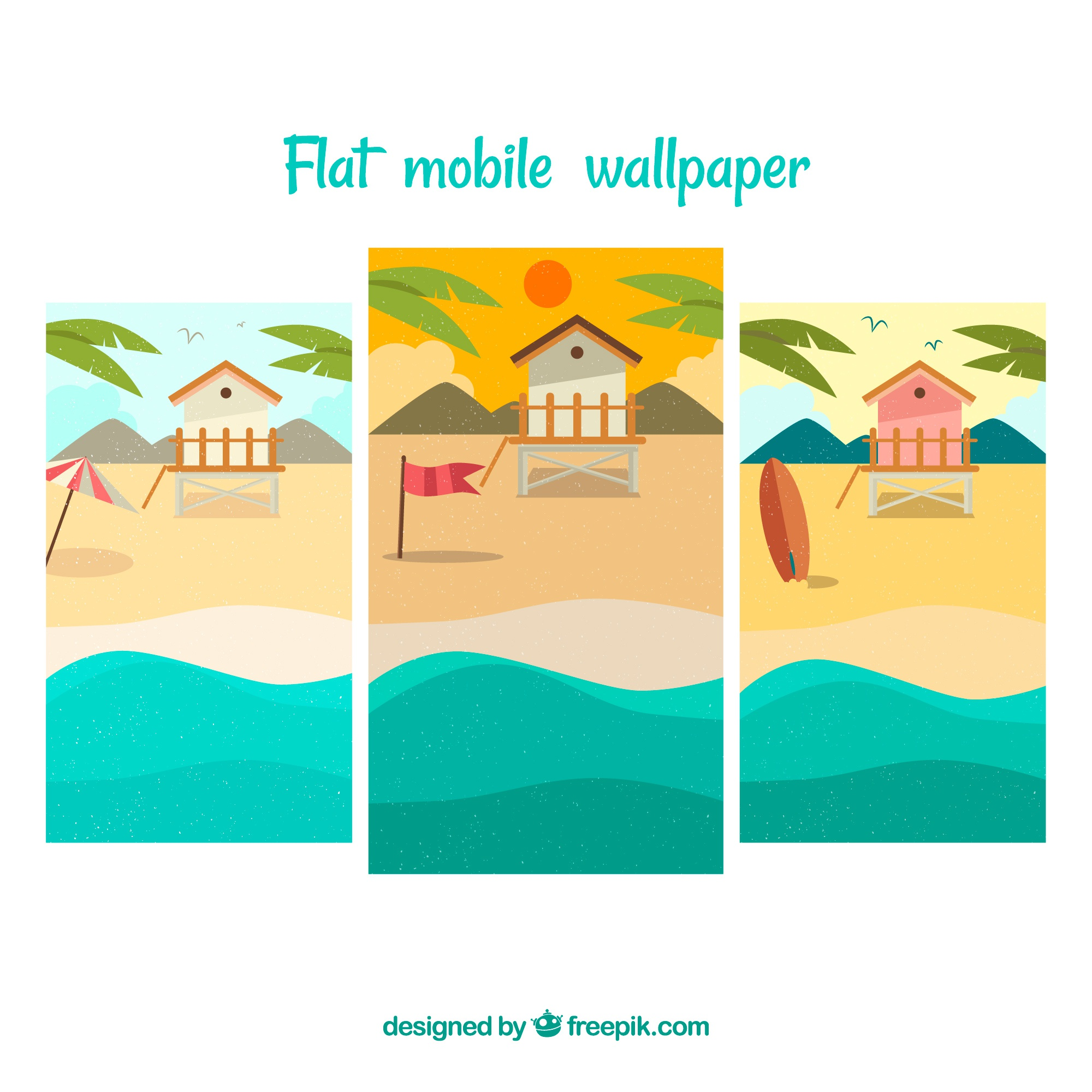 Beach mobile phone wallpapers pack