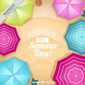 Beach umbrellas background
