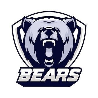 Bear animal sport mascot head logo vector