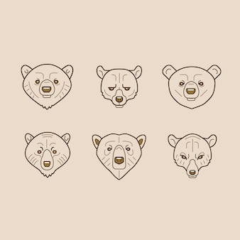 Bear outline icons