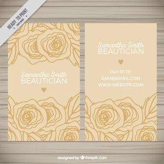 Beautician business card design