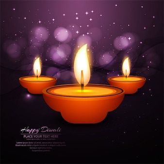 Beautiful abstract background with candles for diwali