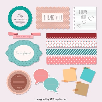 Beautiful accessories of scrapbooking
