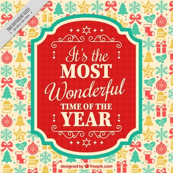Beautiful and inspiring new year message in vintage style