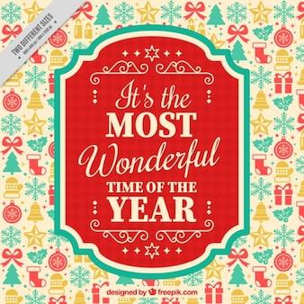 ヴィンテージスタイルの美しいと感激新年メッセージ
