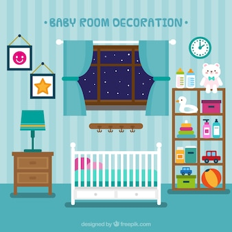 Beautiful baby room with toys