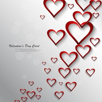 Beautiful background with red hearts