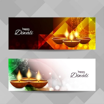 Beautiful banners for diwali