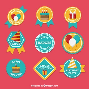 Beautiful birthday badges