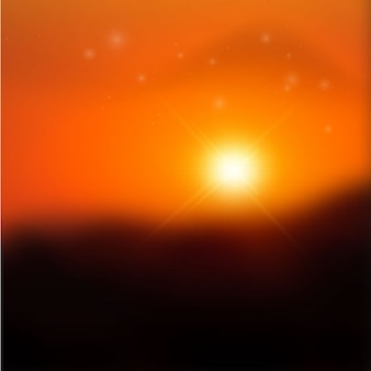Beautiful blurred sundown background