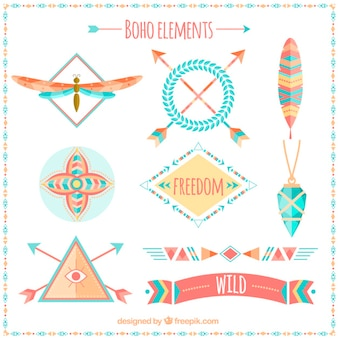 Beautiful boho elements