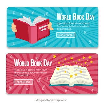 Beautiful book day banners