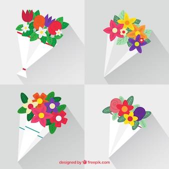 Beautiful bouquets in flat design