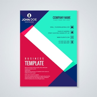 Beautiful brochure template with geometric shapes