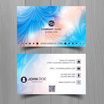 Beautiful business card with color effects
