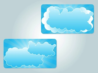 Beautiful business cards with clouds