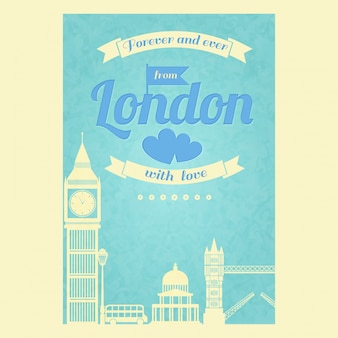 Beautiful card about london
