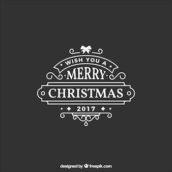 Beautiful christmas sticker in flat design