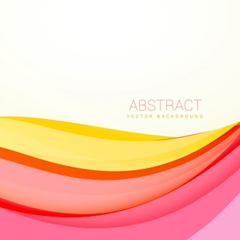 Beautiful colorful wavy background with soft colors
