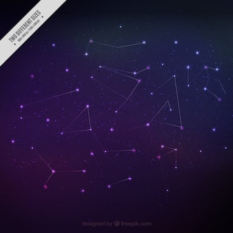 Beautiful constellations background