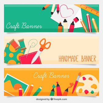 Beautiful craft banners