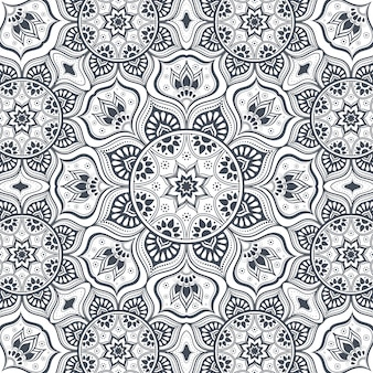 Beautiful creative floral pattern design. Elegant abstract seamless background.
