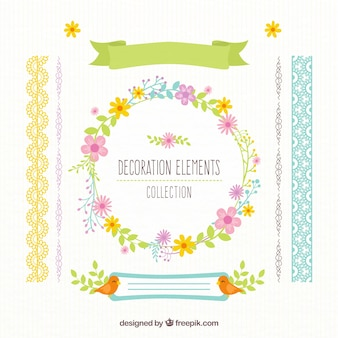 Beautiful decorative elements