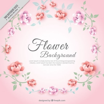 Beautiful decorative floral background