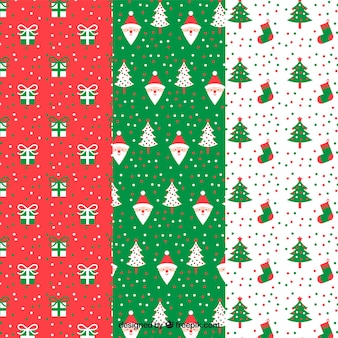Beautiful decorative patterns with christmas elements