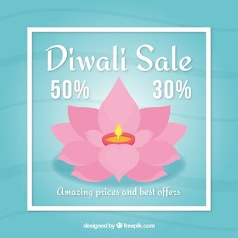 Beautiful diwali sales background