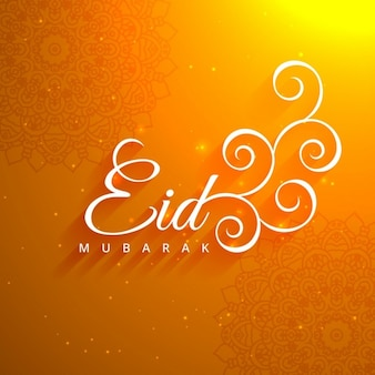 Beautiful eid festival orange background