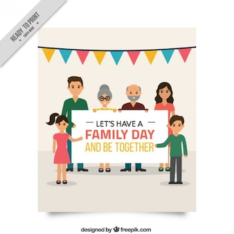 Beautiful family day card