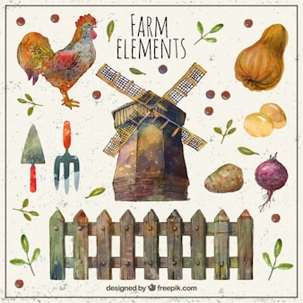 Beautiful farm elements
