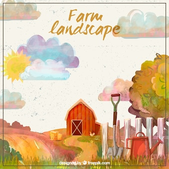 Beautiful farm landscape