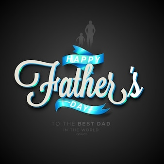 Beautiful father's day background with blue ribbons