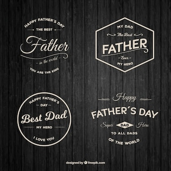 Beautiful father's day badges in vintage style