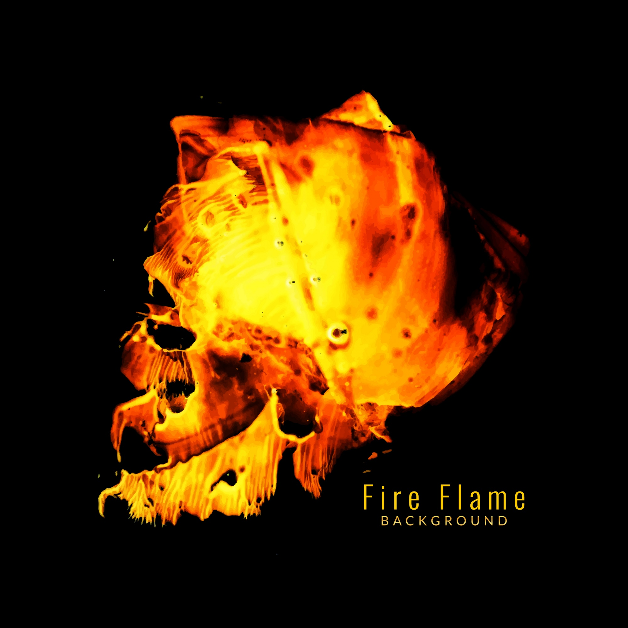 Beautiful fire flame background
