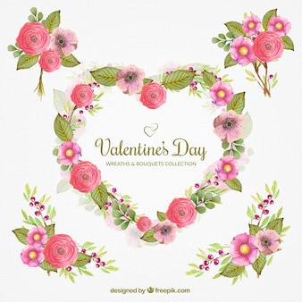 Beautiful floral decoration for valentine's day