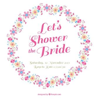 Beautiful floral frame for bridal shower