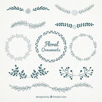 セット美しい花の装飾品