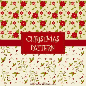 Beautiful floral patterns for christmas