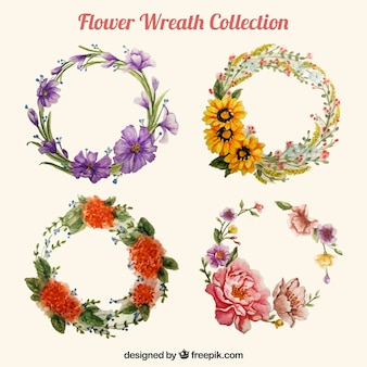 Beautiful floral wreath collection