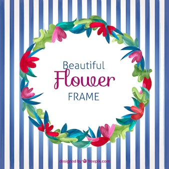 Beautiful flower frame