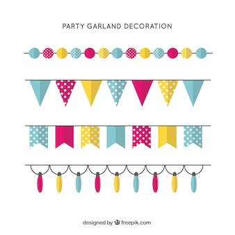 Beautiful garlands for a birthday