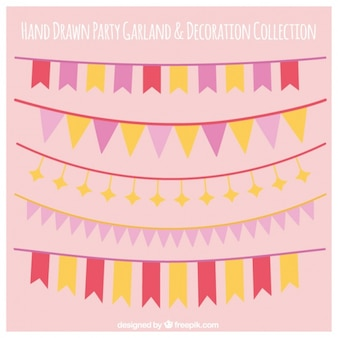 Beautiful garlands for decoration