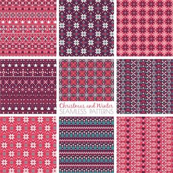 Beautiful geometric christmas pattern