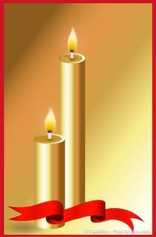 Beautiful golden candles burning