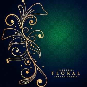 Beautiful golden floral decoration background